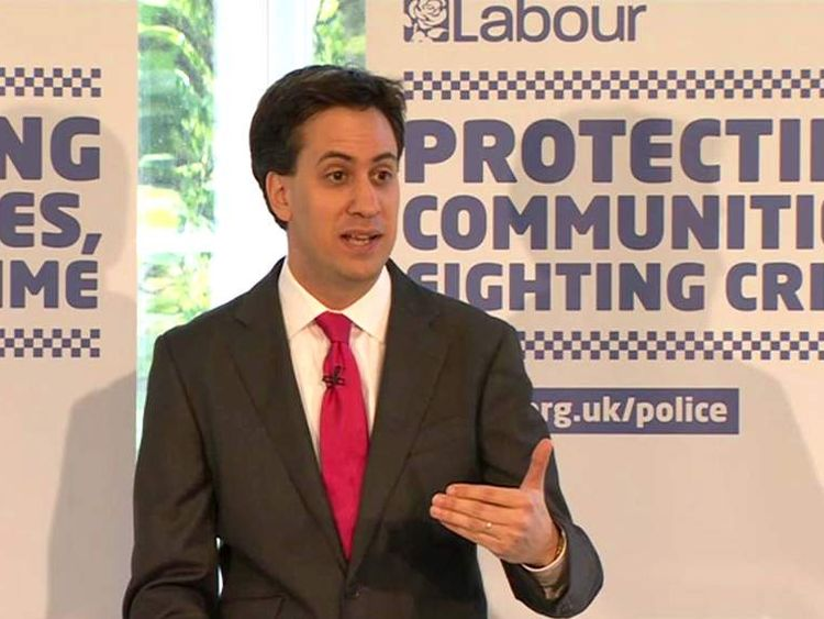 Ed Miliband At Labour's PCC Launch