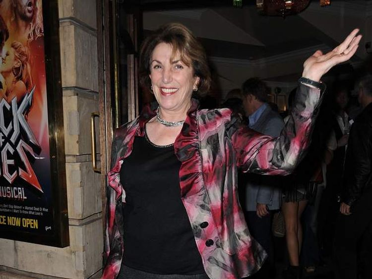 Edwina Currie at a Rock of Ages musical press night last September
