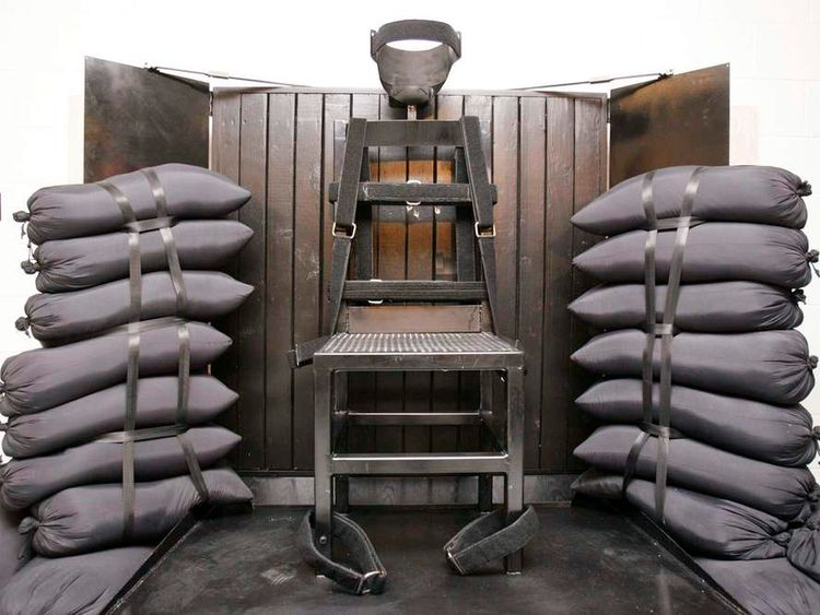 The execution chamber at the Utah State Prison