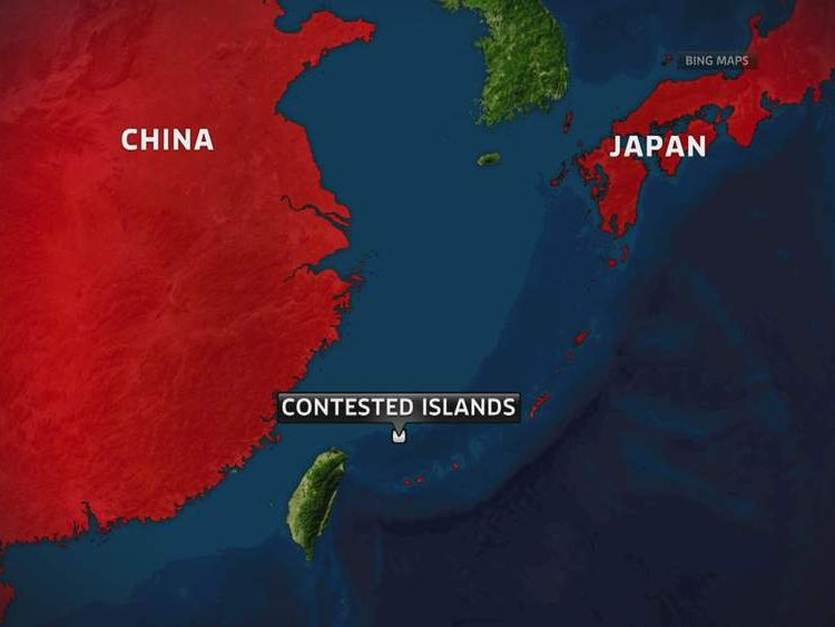 Map of contested Senkaku/Diaoyu islands