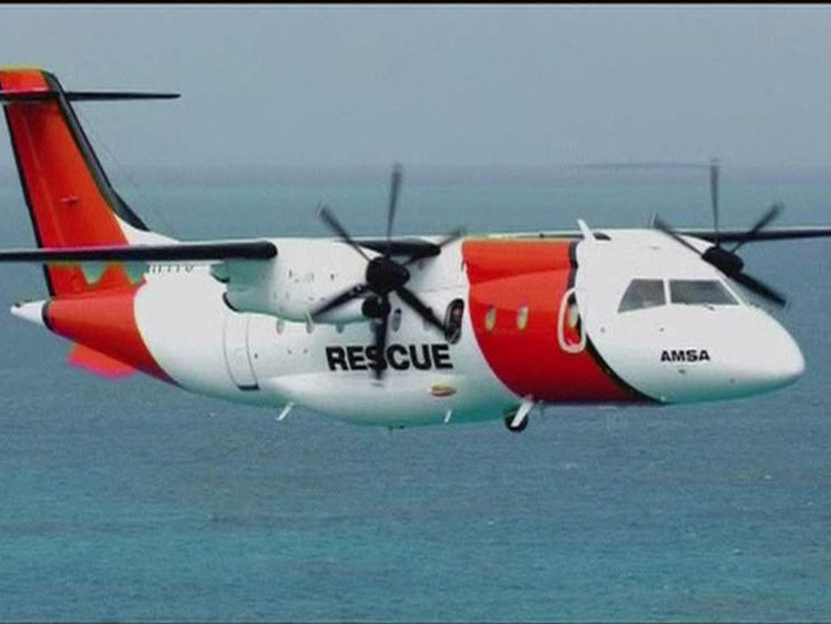 Rescue plane which helped find a missing yachtsman off Australia