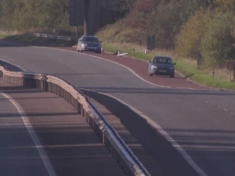 The scene of the M1 shooting in Northern Ireland