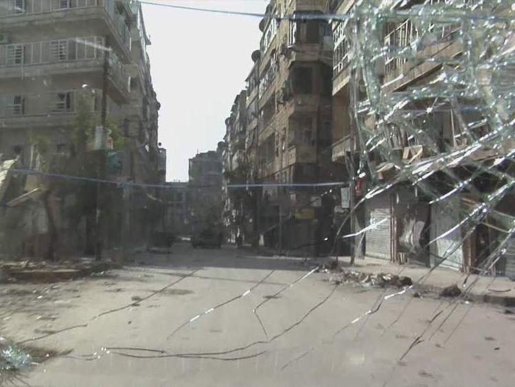 Damage in Aleppo