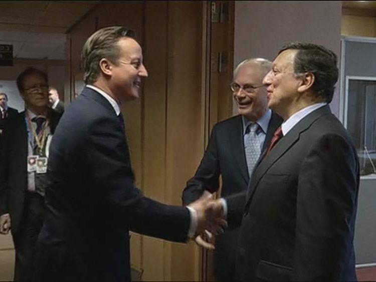 Cameron meets Barroso and Van Rompuy