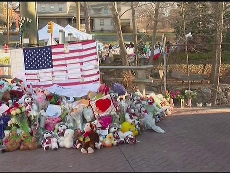 Tributes to victims of the Sandy Hook school shooting
