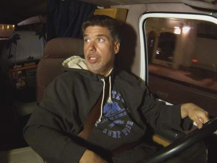 James Frangella lives in his van in California
