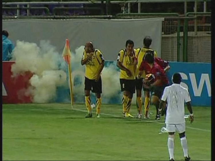 Explosion at match between Iranian side Sepahan and Al Ahli of Saudi Arabia