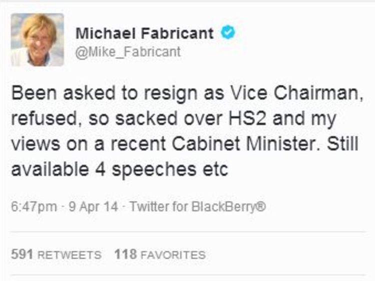 Michael Fabricant tweets