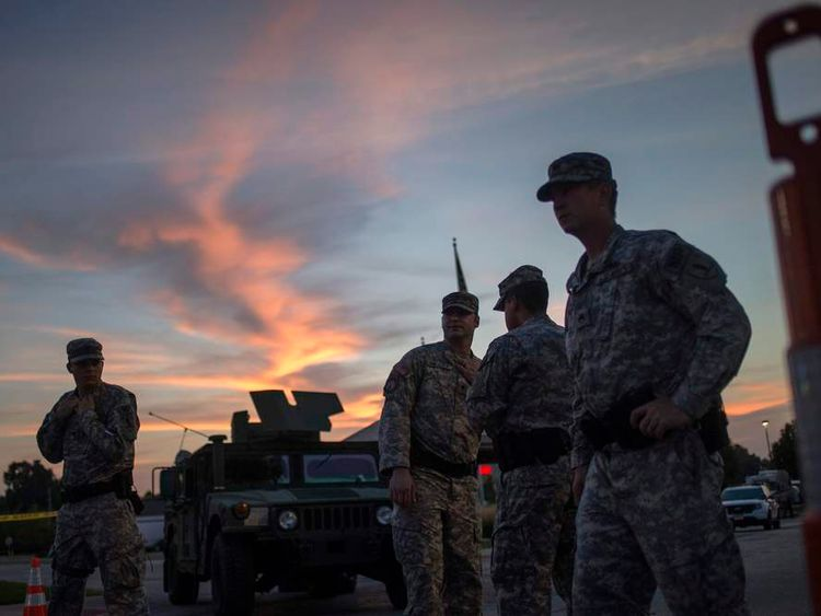 National Guard troops in Ferguson, Missouri