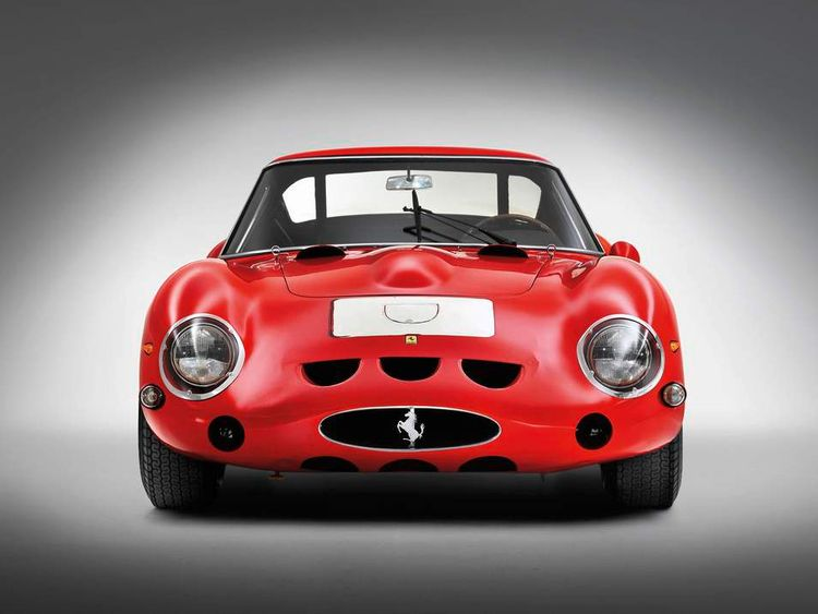 Ferrari 250 GTO sold at auction - front on
