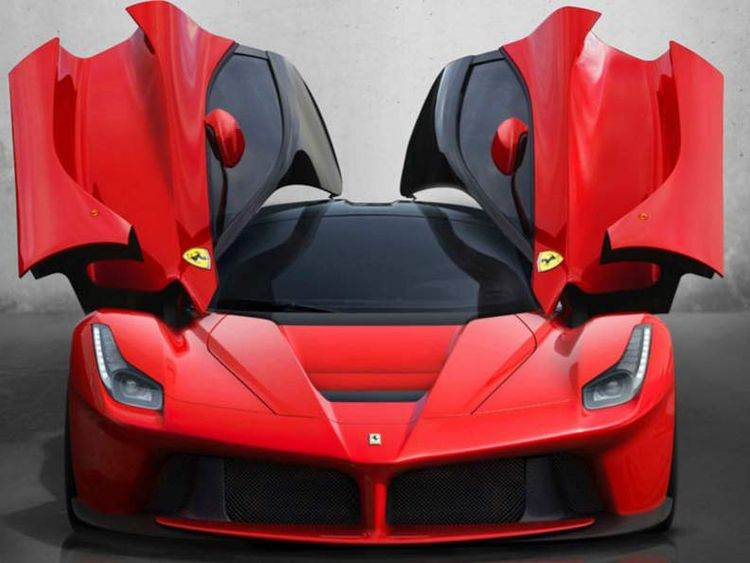 LaFerrari with its doors opened