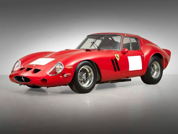 Ferrari 250 GTO sold at auction, side view