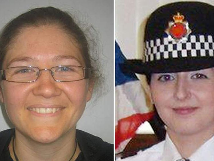"Undated handout photo issued by Greater Manchester Police of PC Fiona Bone, aged 32, and PC Nicola Hughes, aged 23 who were killed in the line of duty while attending a ""routine incident"" today which led to the arrest of one of the country's most wanted men."