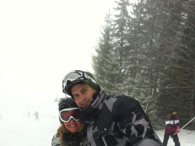 Nina Holmes with boyfriend Dean Herbert skiing in January 2013. Picture taken from Nina Holmes' Facebook profile