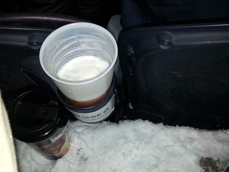 Temperatures so low at Chicago Bears game that beer froze