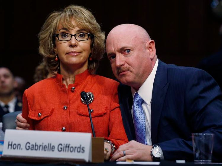 Gabrielle Giffords and Mark Kelly