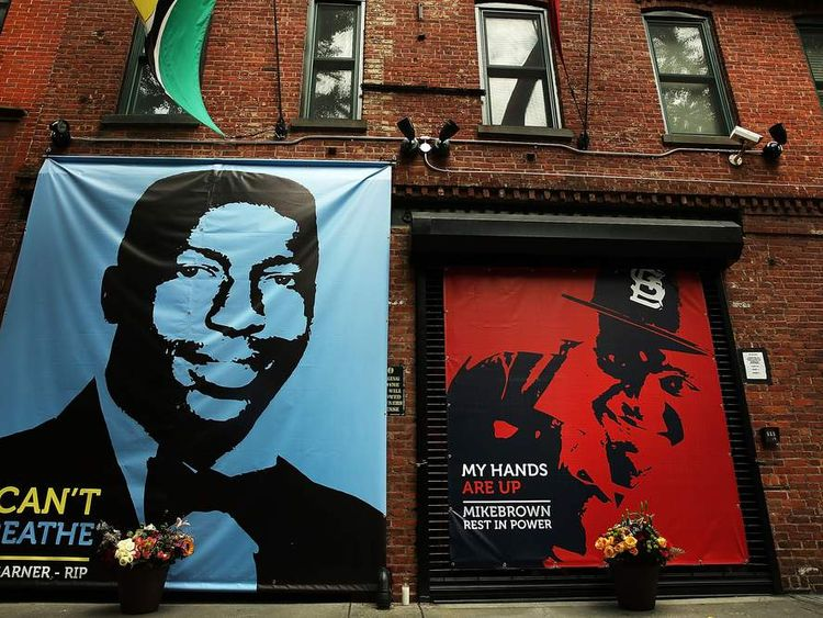 Brooklyn memoria for Eric Garner And Michael Brown