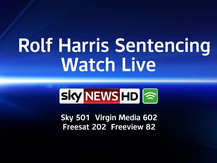 Rolf Harris sentencing: watch live