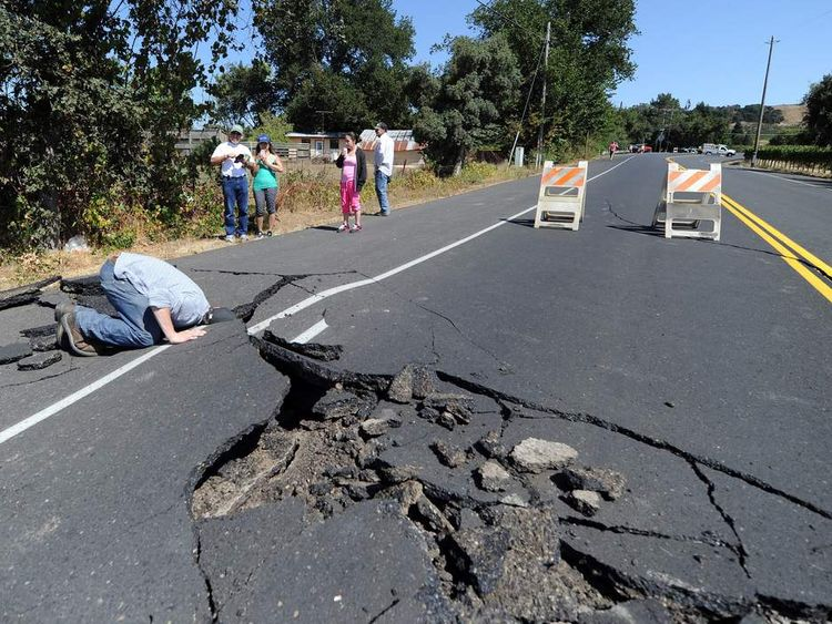crack in road