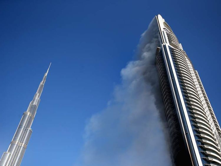 Fire in Dubai skyscraper