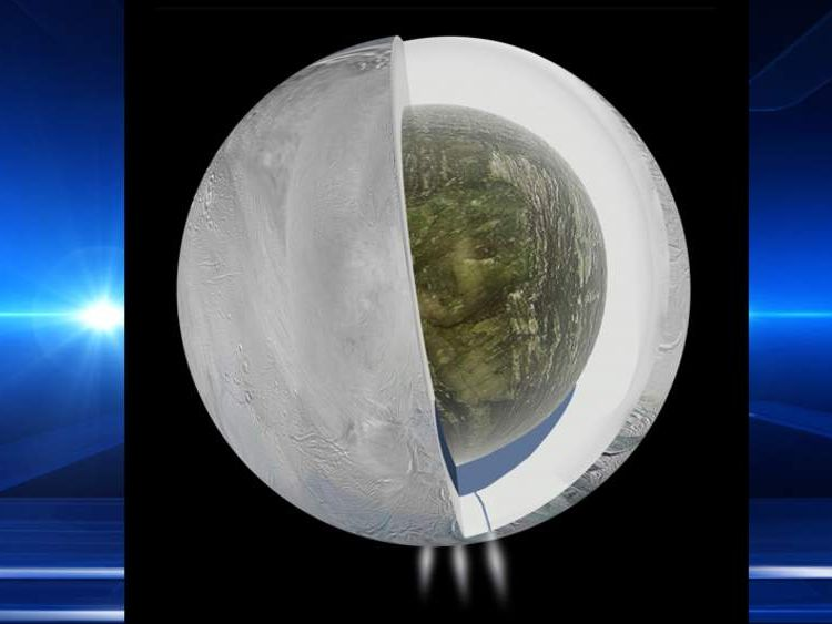 Watery Ocean Found Under Saturn's Enceladus Moon