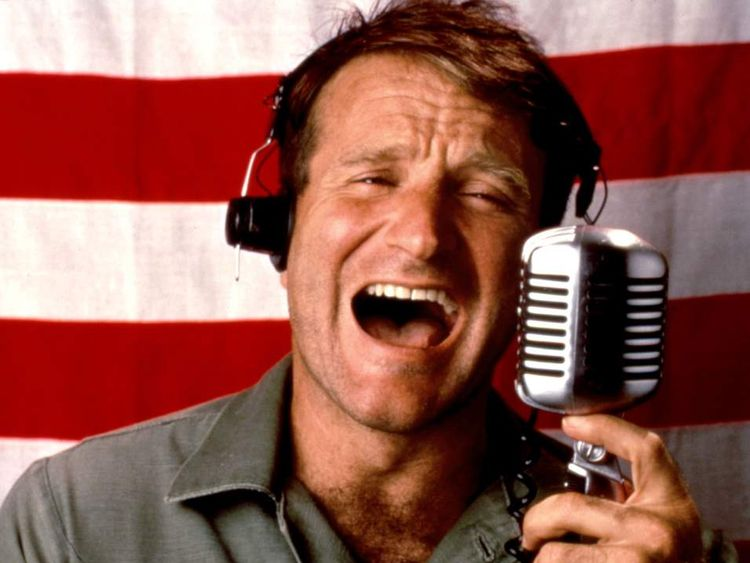 GOOD MORNING VIETNAM, Robin Williams, 1987