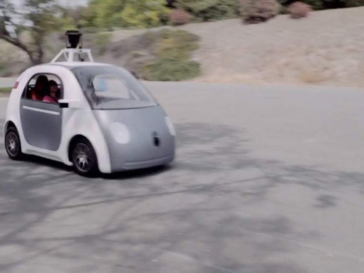 A driverless car being tested by Google