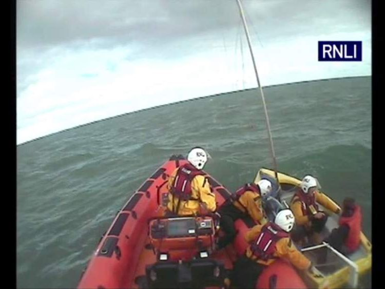 Man rescued off Dorset trying to sail to America in dinghy