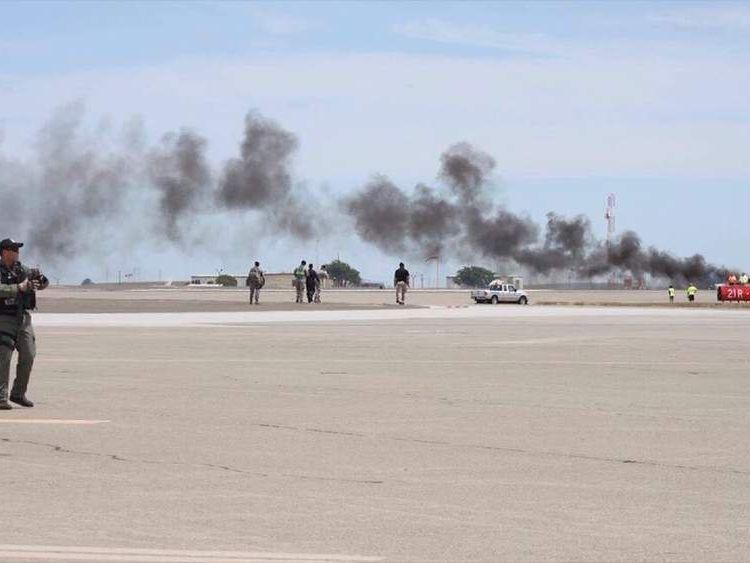 Plane crash at California air show