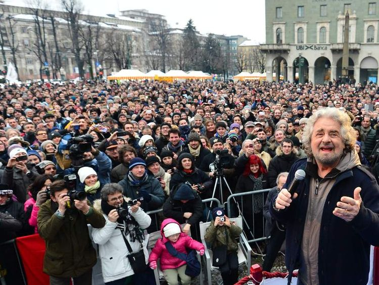 ITALY-POLITICS-VOTE-GRILLO-RALLY