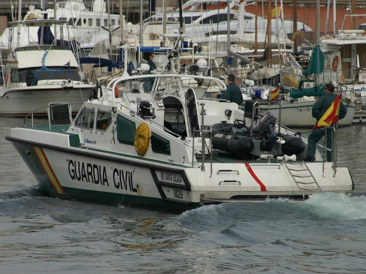 A guardia civil patrol boat