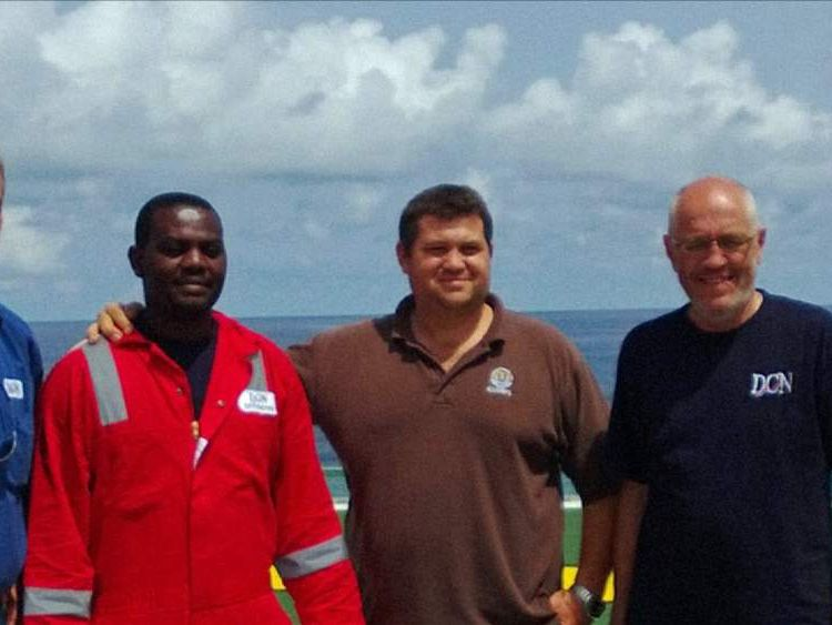 Man rescued after three days in sunken ship's air bubble. Pic: DCN Diving