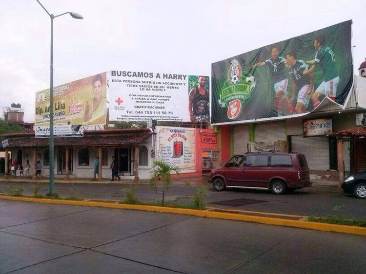 Posters asking for the public's help were put up in Mexico