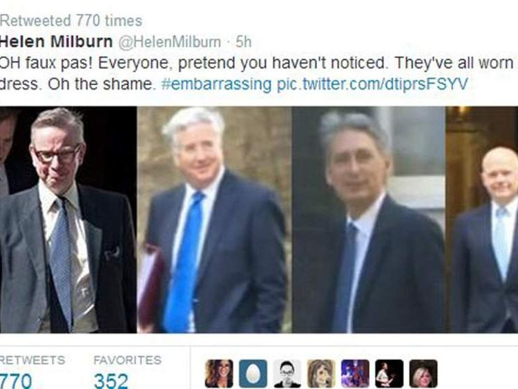 Helen Milburn tweet