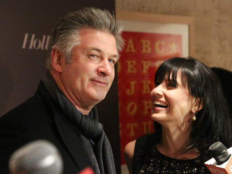Alec Baldwin and wife Hilaria in New York