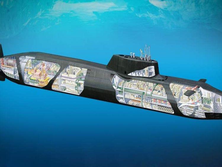 Cutaway drawing of the Royal Navy's new submarine