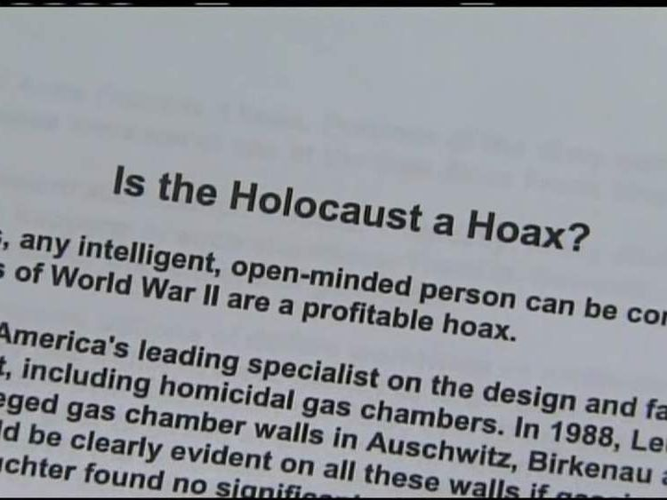 Holocaust school assignment row