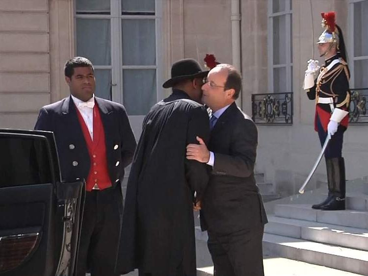 Goodluck Jonathan and Francois Hollande
