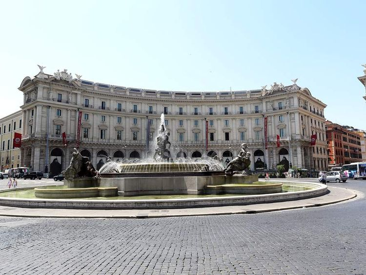 A view of Rome's Hotel Exedra