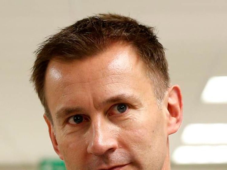 Jeremy Hunt at University College Hospital HQ, London