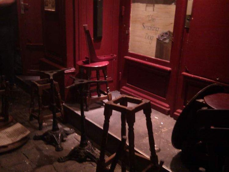 Inside Smoking Dog Pub In Lyon