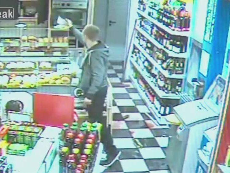 Oldenburg Germany robbery CCTV