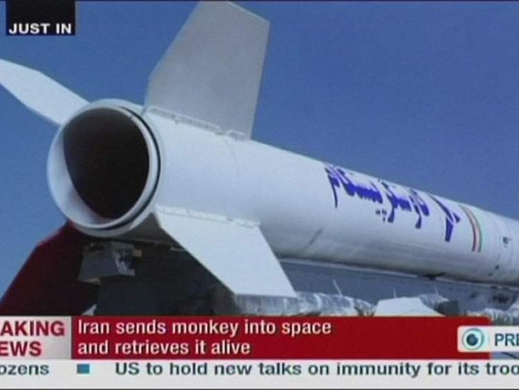The rocket the monkey is claimed to have been sent to space in