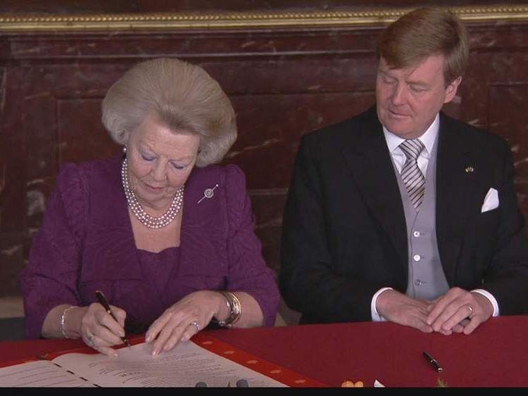 Queen Beatrix and Prince Willem-Alexander
