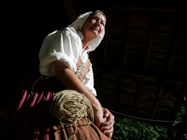Ashley Barry is seen at the Jamestown Settlement museum in Williamsburg, Virginia