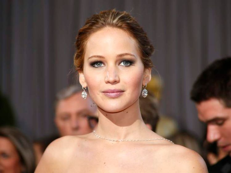 """Jennifer Lawrence won Best Acress for her role in """"Silver Linings Playbook"""" arrives at the 85th Academy Awards in Hollywood, California"""