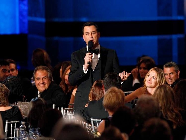 Television host Kimmel speaks at the American Film Institute�s 41st Life Achievement Award Gala in Hollywood