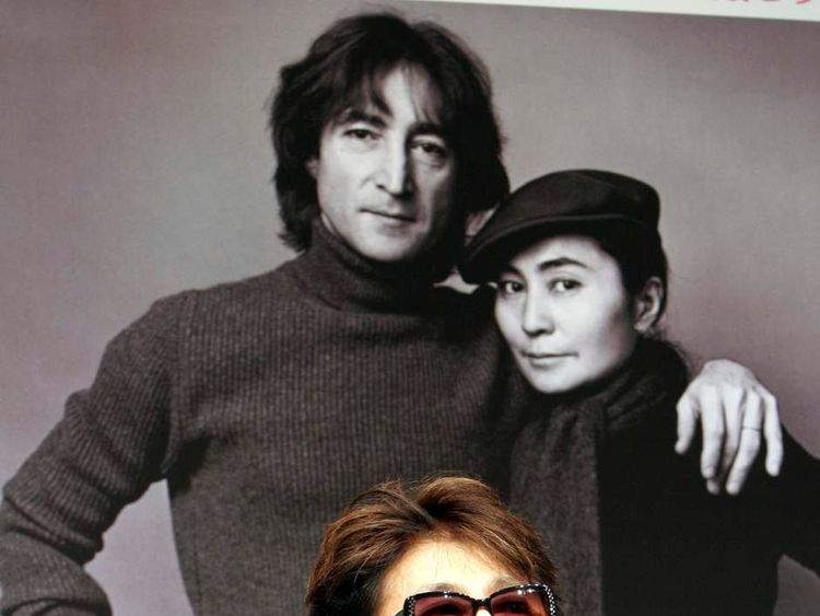 Widow of former Beatles' John Lennon speaks at news conference in Tokyo