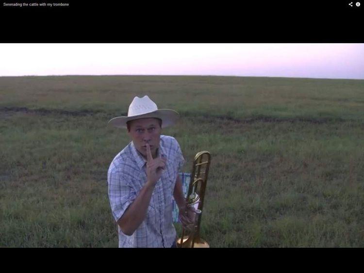The farmer arrives at an empty field
