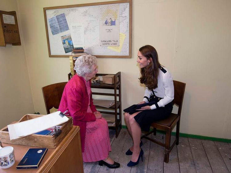 Duchess of Cambridge visit to Bletchley Park
